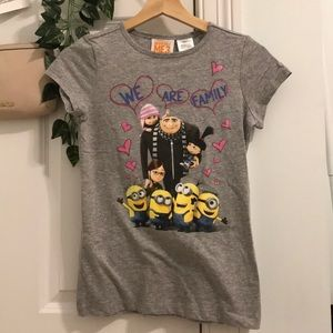 Despicable Me girls tee size 10 / 12